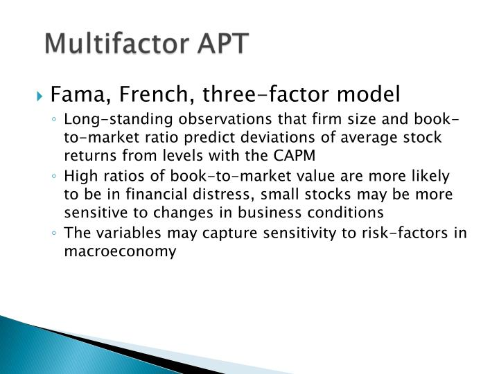Fama, French, three-factor model