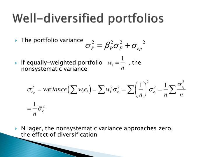 The portfolio variance