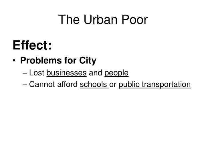 The Urban Poor