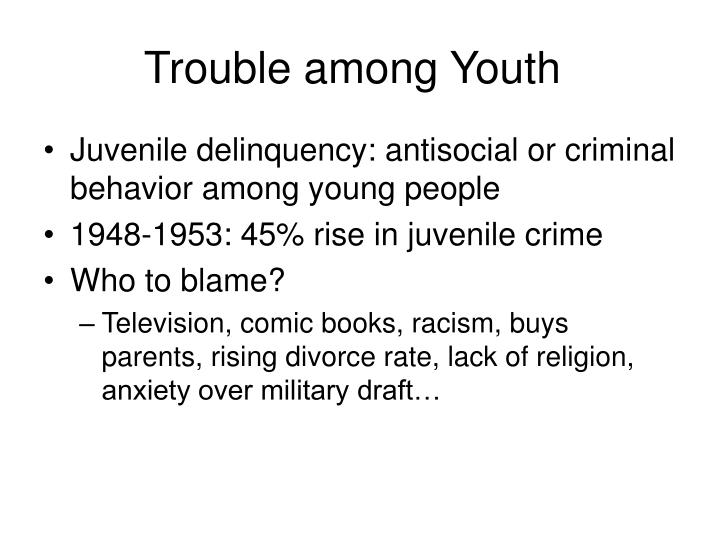Trouble among Youth
