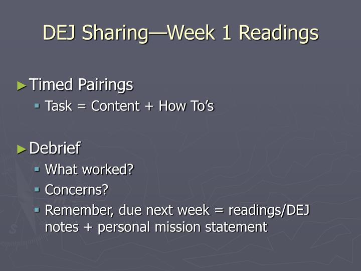 Dej sharing week 1 readings