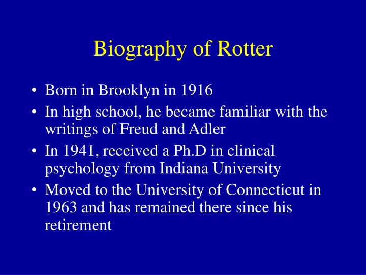 Biography of Rotter