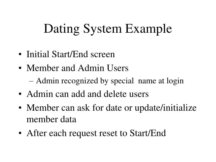 Dating System Example