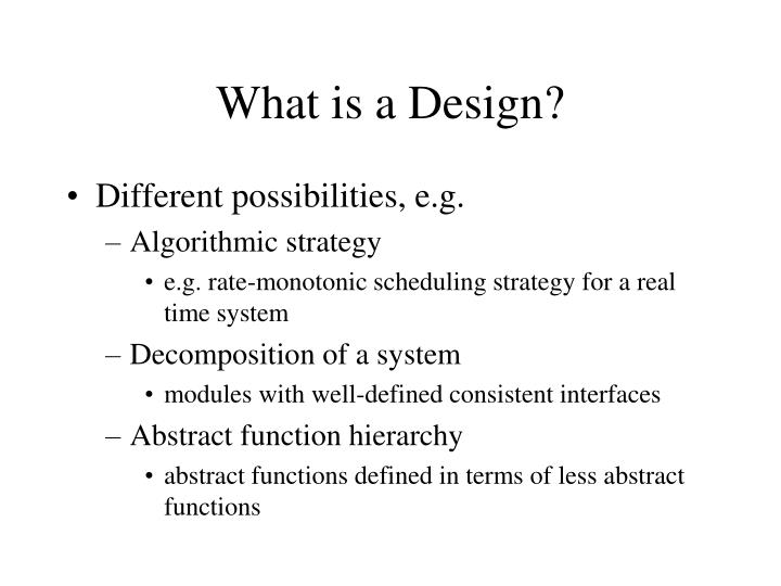 What is a Design?