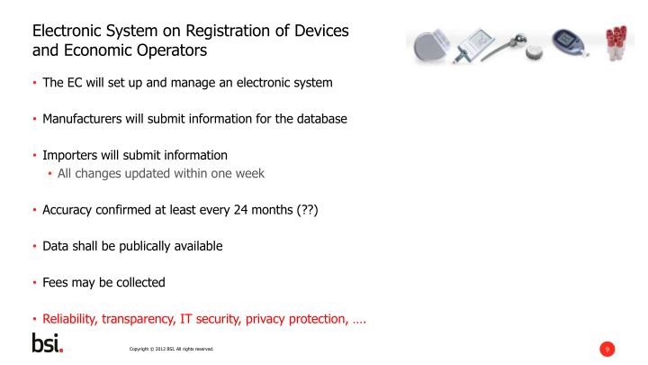 Electronic System on Registration of Devices