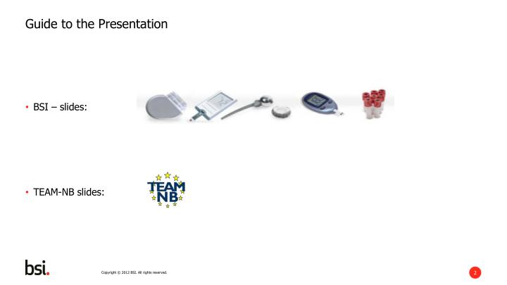 Guide to the presentation