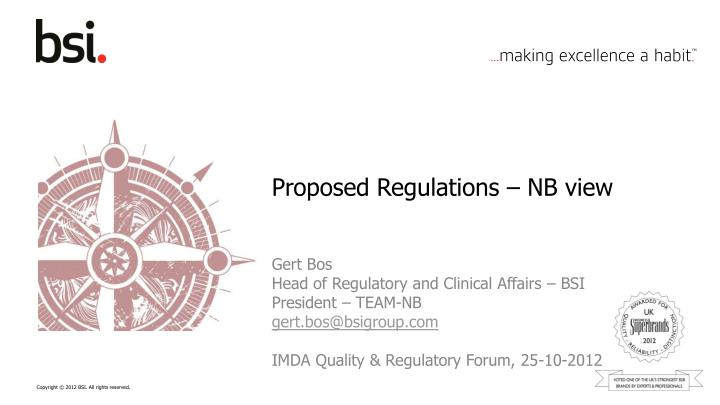 Proposed regulations nb view