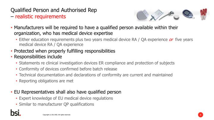 Qualified Person and Authorised Rep