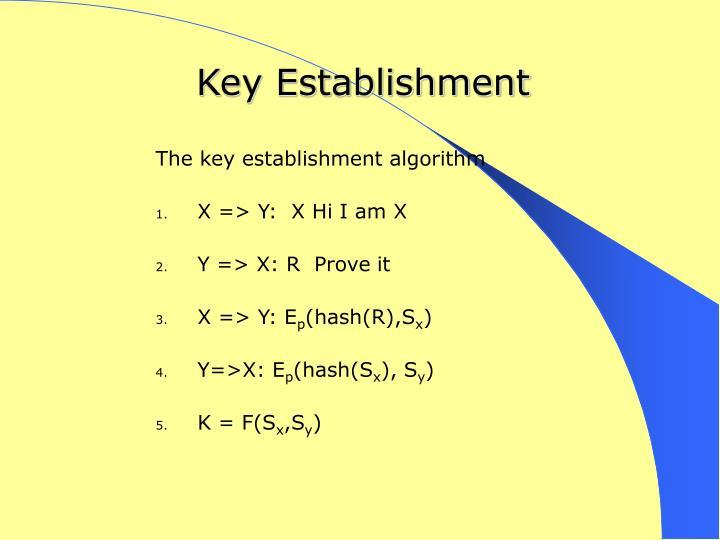 Key Establishment