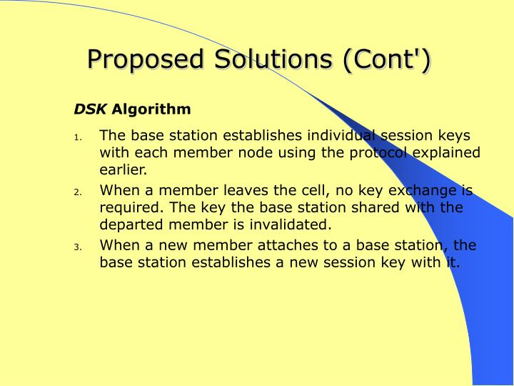 Proposed Solutions (Cont')