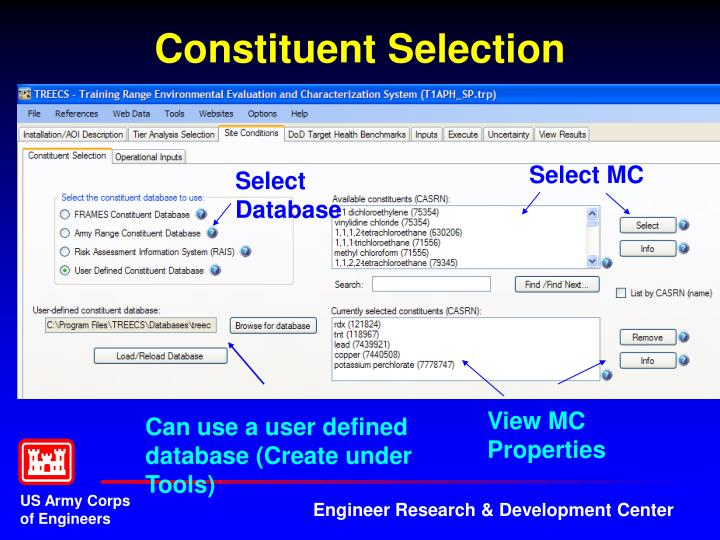 Constituent Selection