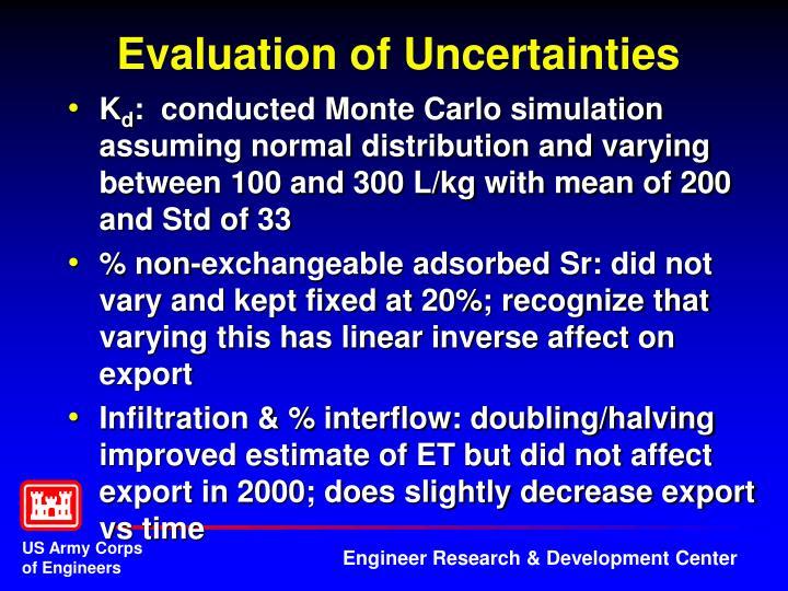 Evaluation of Uncertainties