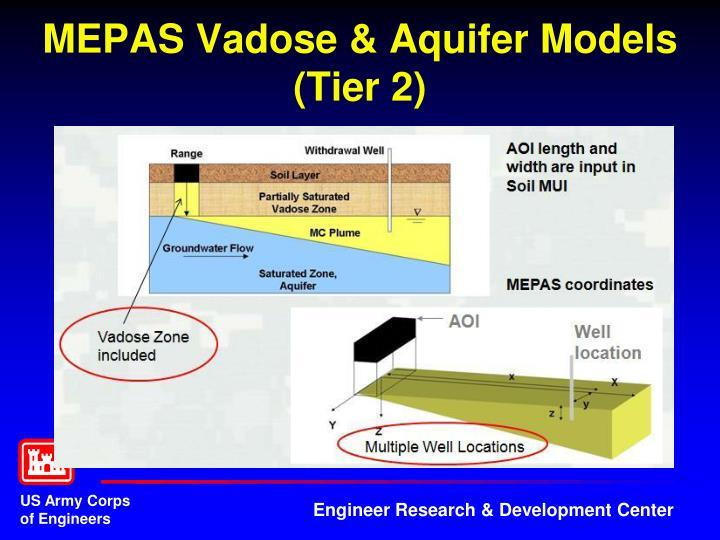 MEPAS Vadose & Aquifer Models