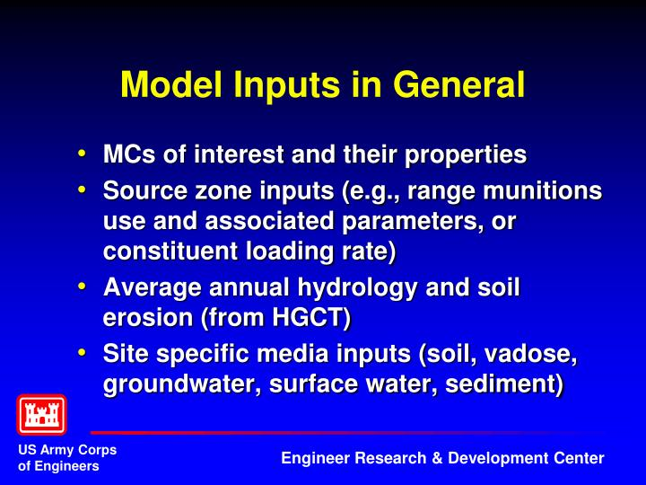 Model Inputs in General