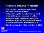 required treecs models