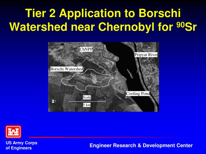 Tier 2 Application to Borschi Watershed near Chernobyl for