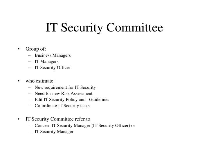 IT Security Committee