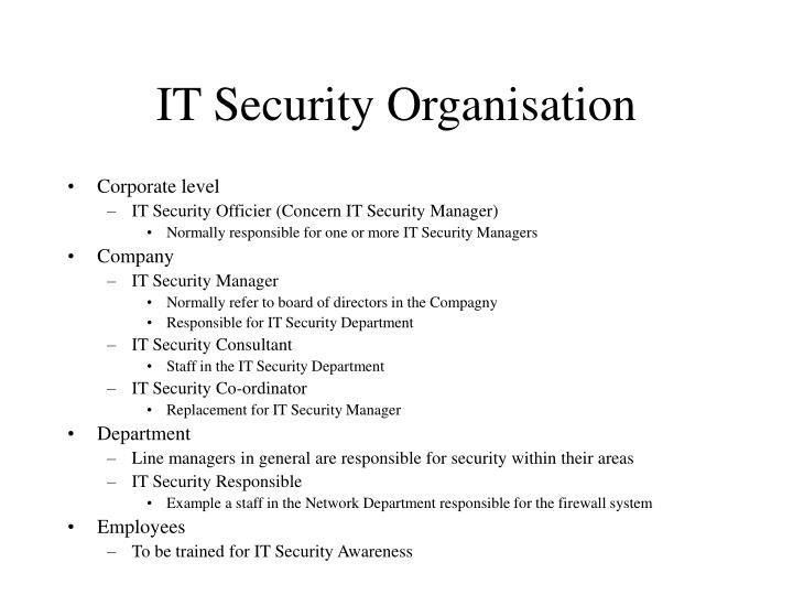 IT Security Organisation