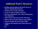 additional wash u resources