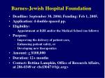 barnes jewish hospital foundation