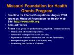 missouri foundation for health grants program