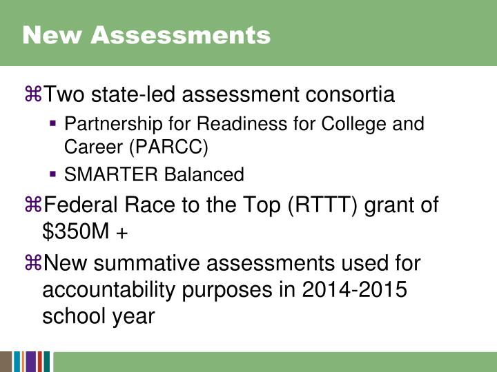 New Assessments