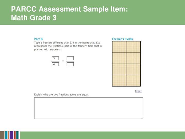 PARCC Assessment Sample Item: