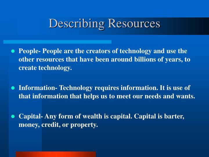 Describing Resources