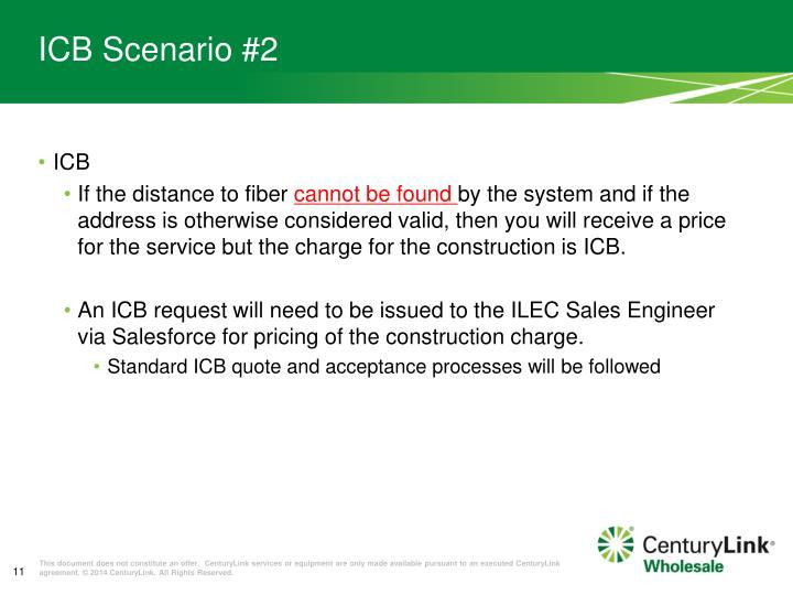 ICB Scenario #2