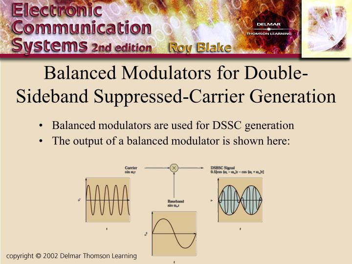 Balanced Modulators for Double-Sideband Suppressed-Carrier Generation