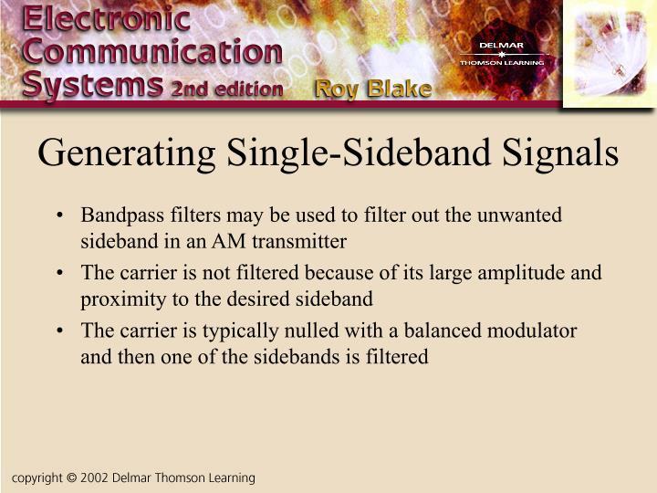 Generating Single-Sideband Signals