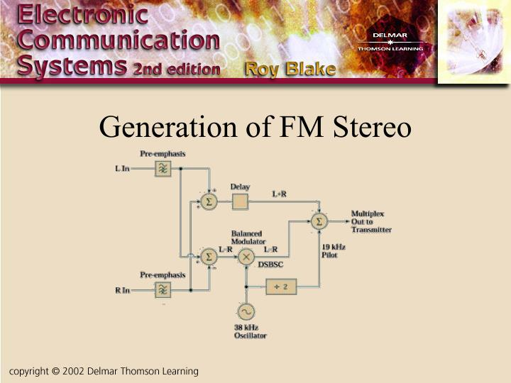 Generation of FM Stereo