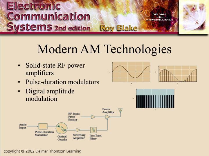 Modern AM Technologies