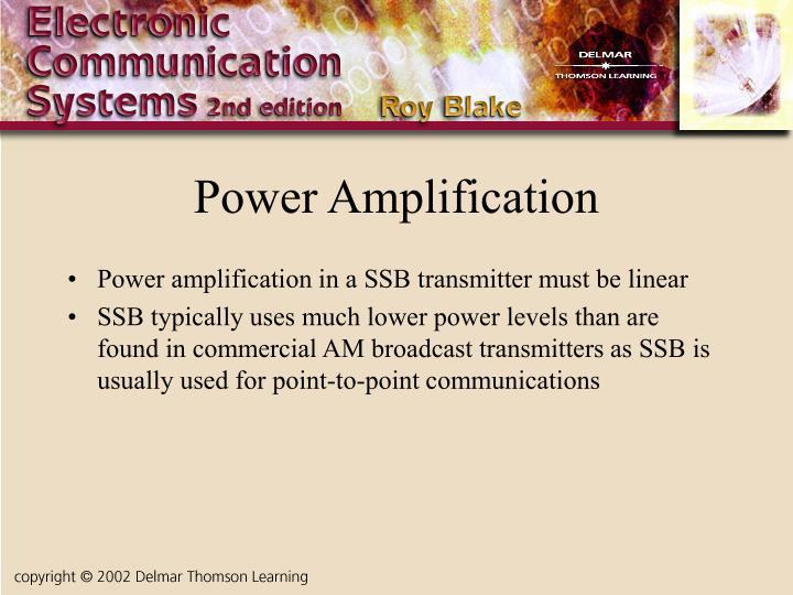 Power Amplification