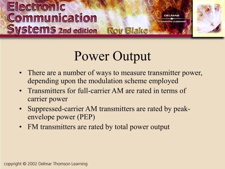 Power Output