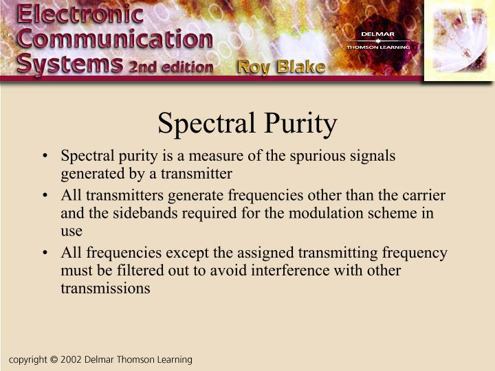 Spectral Purity