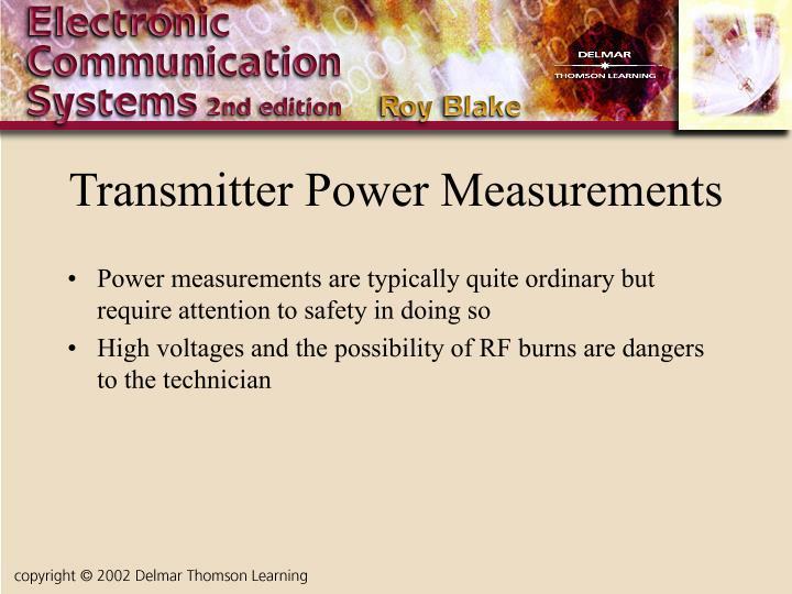 Transmitter Power Measurements