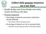collect daily process measures on a run chart