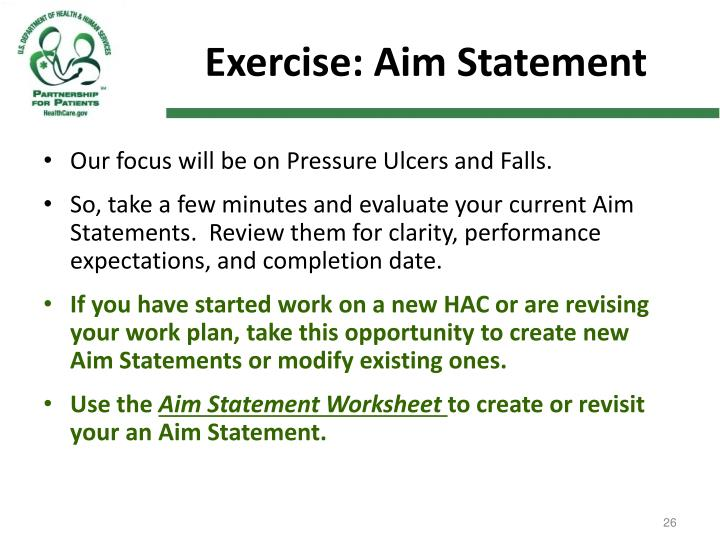 Exercise: Aim Statement