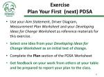 exercise plan your first next pdsa