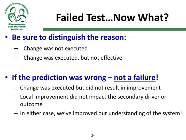 Failed Test…Now What?