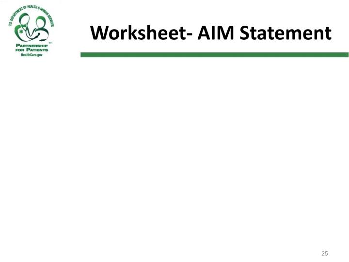 Worksheet- AIM Statement