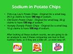 sodium in potato chips