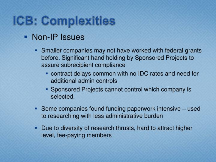ICB: Complexities