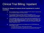 clinical trial billing inpatient1