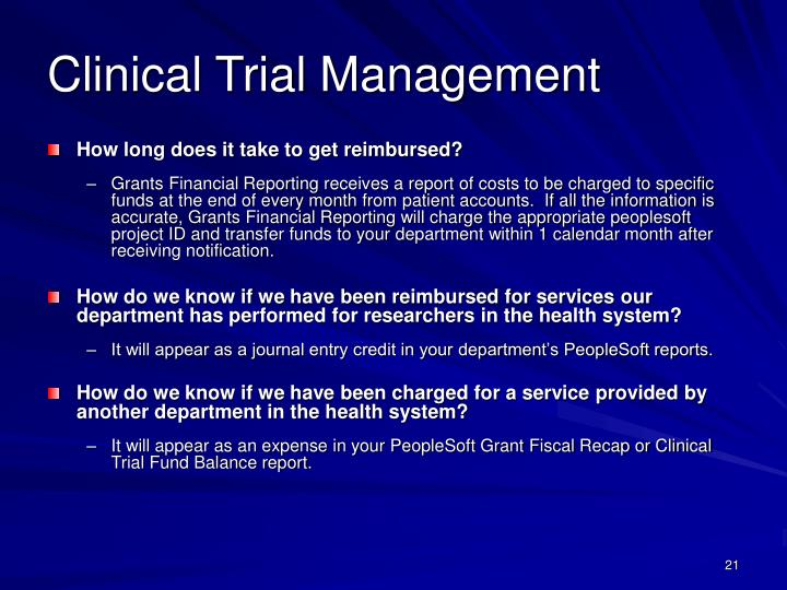 Clinical Trial Management