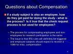 questions about compensation2