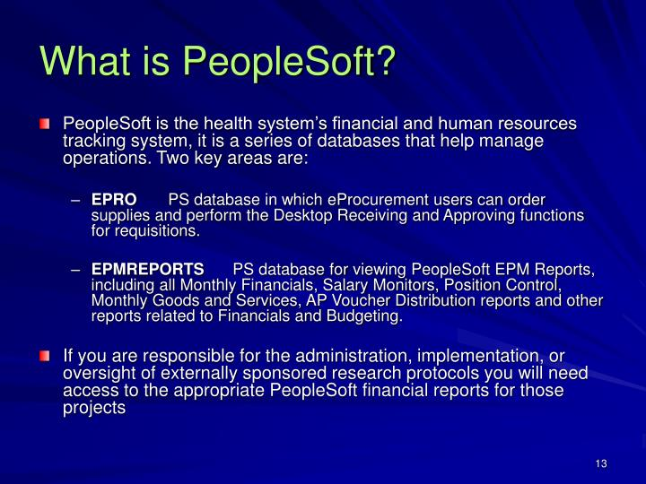 What is PeopleSoft?