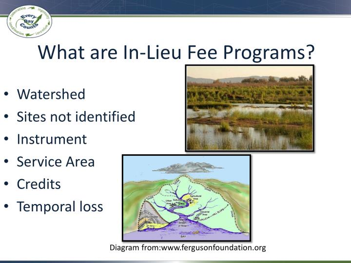 What are In-Lieu Fee Programs?
