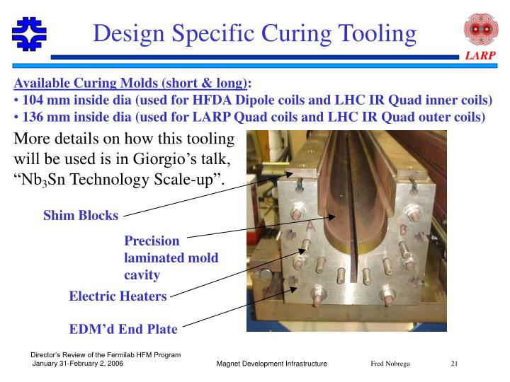 Design Specific Curing Tooling